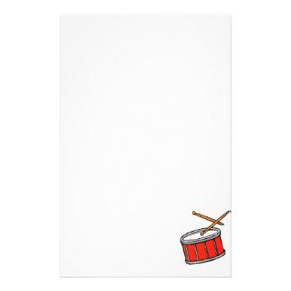 Rojo del tambor papeleria personalizada