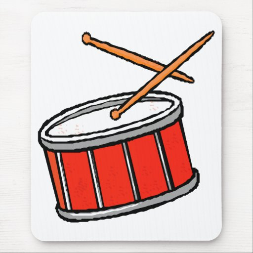 Rojo del tambor tapete de ratón