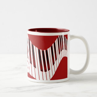 rojo del teclado taza de café de dos colores