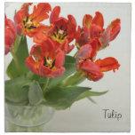 Rojo del tulipán servilletas de papel