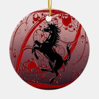 Rojo del unicornio ornamento para reyes magos