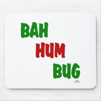Rojo del verde del insecto del ronquido de Bah Alfombrillas De Ratón