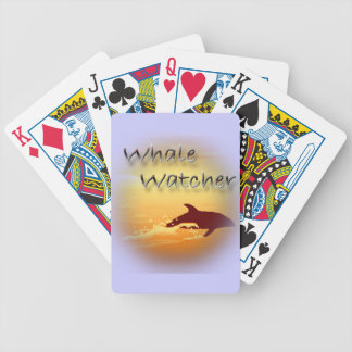 Rojo del vigilante de la ballena barajas de cartas