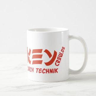 Rojo del VT del logotipo de la taza de MonkeyCrew