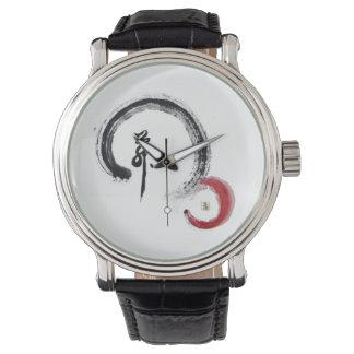 Rojo del zen, Enso Relojes De Mano