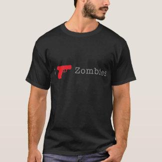 Rojo del zombi playera