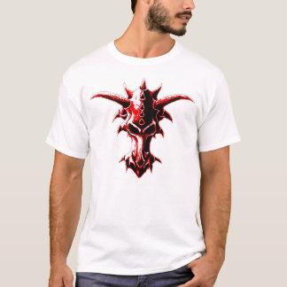 Rojo demoníaco del cráneo del dragón playera