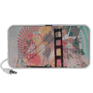 rojo digital del puente de la selva iPod altavoces