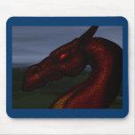 rojo-dragón tapetes de ratones
