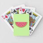 Rojo dulce de la salud de la fruta de la sandía de barajas de cartas