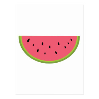 Rojo dulce de la salud de la fruta de la sandía de postal