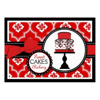 Rojo dulce de la tarjeta de visita de la torta