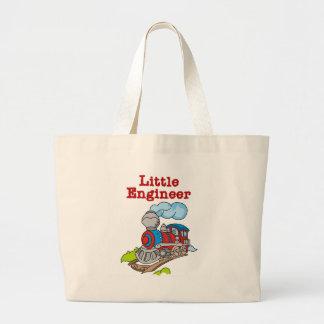 Rojo e ingeniero del tren azul pequeño bolsas