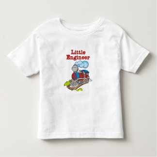 Rojo e ingeniero del tren azul pequeño playera de bebé