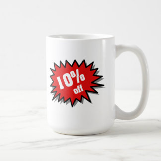 Rojo el 10 por ciento apagado taza clásica