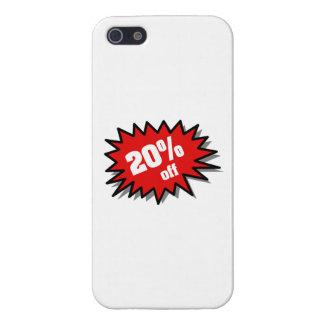 Rojo el 20 por ciento apagado iPhone 5 cobertura