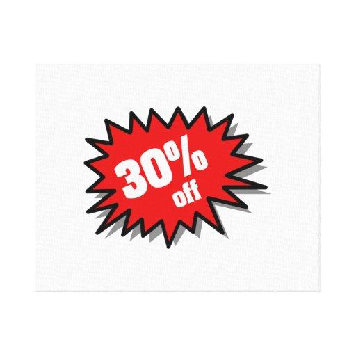 Rojo el 30 por ciento apagado lienzo envuelto para galerías