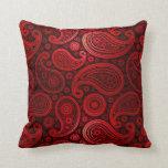 Rojo el | de rubíes de lujo de Paisley Almohada