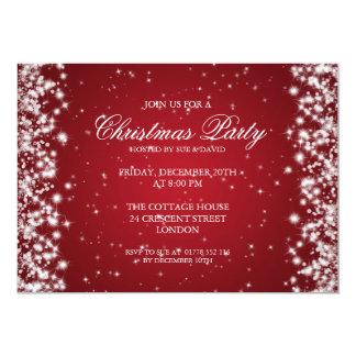 Rojo elegante de la chispa del fiesta invitación 12,7 x 17,8 cm
