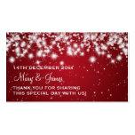Rojo elegante de la chispa del invierno de la etiq tarjeta de visita