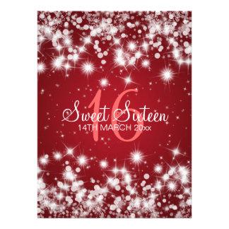 Rojo elegante de la chispa del invierno del fiesta comunicado personal