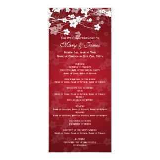 """Rojo elegante de la flor de cerezo del programa invitación 4"""" x 9.25"""""""