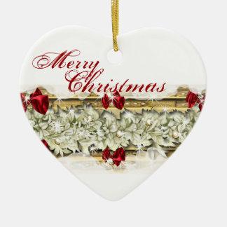 Rojo elegante de la nieve de las flores del navida ornamentos de reyes magos