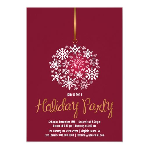 Rojo elegante del Invitar-rubí de la fiesta de Invitación 12,7 X 17,8 Cm