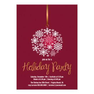 Rojo elegante del Invitar-rubí de la fiesta de Nav Anuncios
