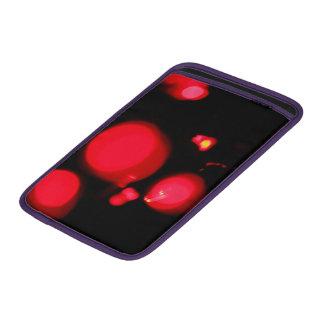 Rojo elegante del remolino de las luces de navidad