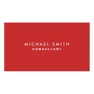 Rojo elegante llano profesional del decorador de i tarjetas de negocios