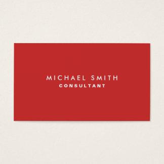 Rojo elegante llano profesional del decorador de tarjetas de visita