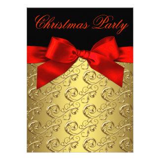 Rojo elegante y fiesta de Navidad corporativa del  Invitación