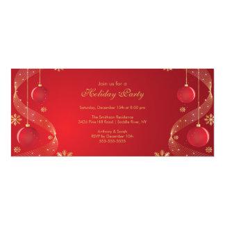 Rojo elegante y oro de la invitación de la