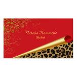 Rojo elegante y tarjeta de visita de la impresión