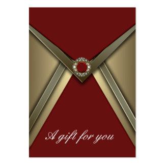 Rojo elegante y vale corporativo del oro tarjetas de visita grandes