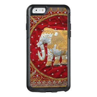 Rojo embellecido y oro del elefante indio funda otterbox para iPhone 6/6s