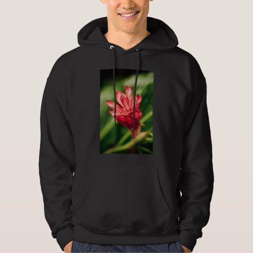 rojo en el jardín suéter con capucha