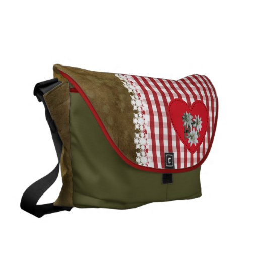 Rojo en el rojo - la bolsa de mensajero bolsa de mensajería
