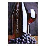 Rojo en la degustación de vinos de las sombras invitación 12,7 x 17,8 cm
