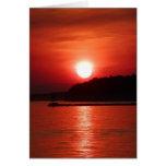 Rojo en la noche, el placer del marinero tarjeta