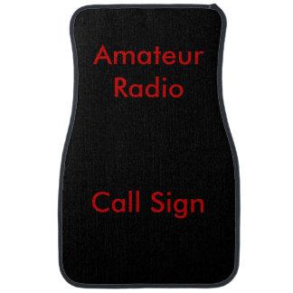 Rojo en muestra aficionada negra de la llamada por alfombrilla de auto