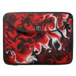 Rojo en negro fundas macbook pro