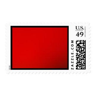Rojo en rojo sello