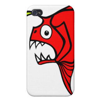 Rojo enojado de los pescados iPhone 4/4S carcasa