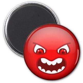 Rojo enojado iman