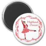 Rojo escocés de Knotwork del Celtic del bailarín d Imán