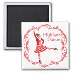 Rojo escocés de Knotwork del Celtic del bailarín d Imanes