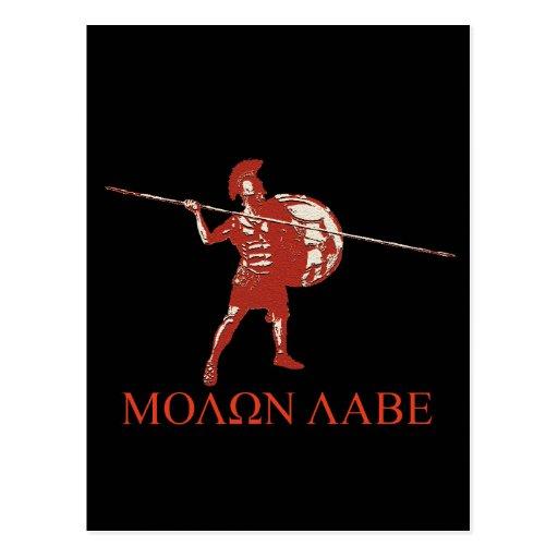 Rojo espartano de Sparta Tarjeta Postal