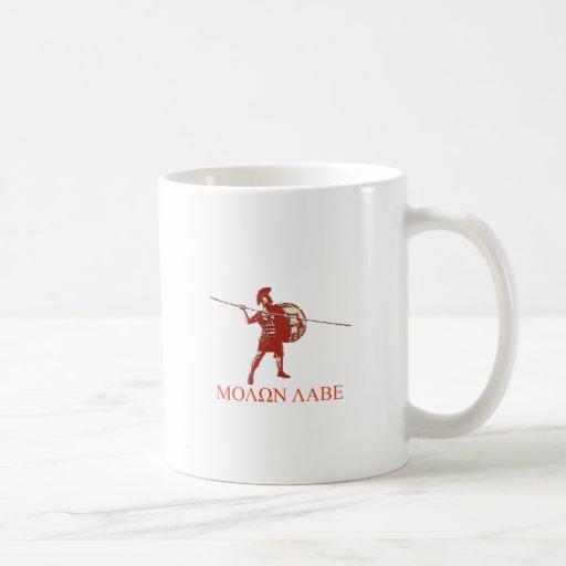 Rojo espartano de Sparta Taza De Café